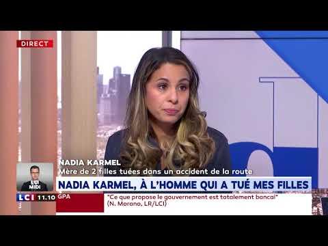 Nadia Karmel raconte l'accident de la route dans lequel elle a perdu ses deux fillettes Nadia Karmel raconte l'accident de la route dans lequel elle a perdu ses deux fillettes