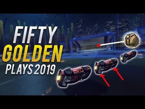 FIFTY GOLDEN ROCKET LEAGUE PLAYS OF 2019! (ROCKET LEAGUE BEST GOALS & BEST SAVES)