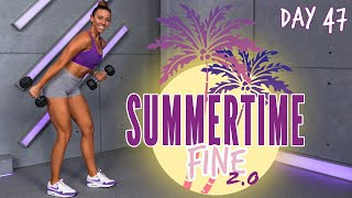 30 Minute Arms And Shoulders Bootcamp Workout | Summertime Fine 2.0 - Day 47