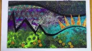 Textile Art With Velvet - Free Machine Embroidery Designs - Colouricious