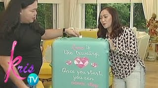 Kris TV: Kris Gets Inspiring Quotes From Lugagge Covers