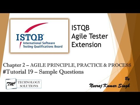 ISTQB Agile Tester Extension | Sample Questions on Chapter 2 ...