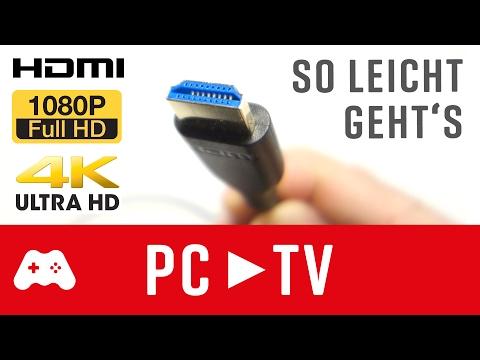 PC oder Laptop an Fernseher anschließen | Mit HDMI Full HD & 4K 💻