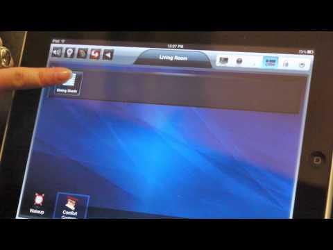 An iPad Smart Home app at Trio Loft Condos