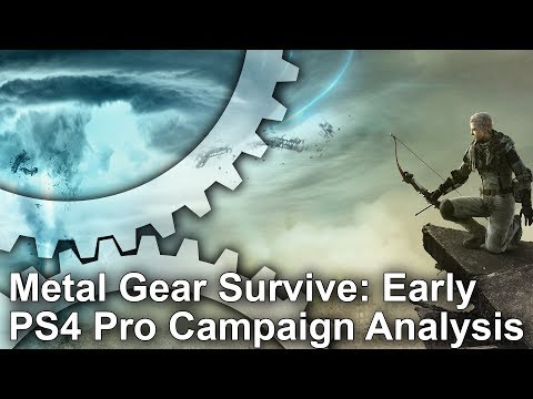 [4K] Metal Gear Survive: Early PS4 Pro Campaign Analysis - Better Performance at 1080p!