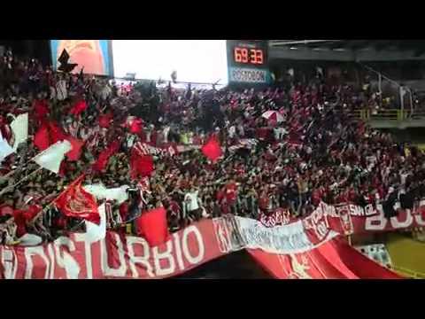 """Disturbio Rojo Bogotá"" Barra: Disturbio Rojo Bogotá • Club: América de Cáli"