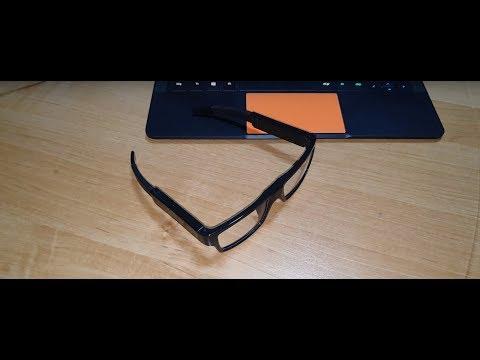 Spion Brille wie James Bond Leute ausspionieren mit versteckter 1080p Full HD Kamera 16 Gb Spy Glass