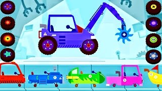 Emergency Vehicles For Children. Dinosaur Digger - Car Monster Truck Simulator For Kids