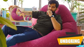 Intex Inflatable Bean-Less Bag Chair Unboxing | Review| In Hindi