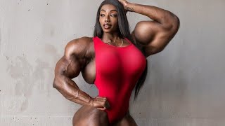 FEMALE BODYBUILDING, - SHANIQUE, IFBB PRO, FITNESS MODEL, GYM WORKOUT,