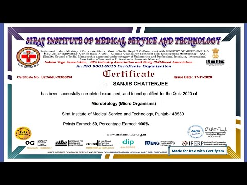 Free Online Microbiology Certificate With In 2 Minute | Free ...