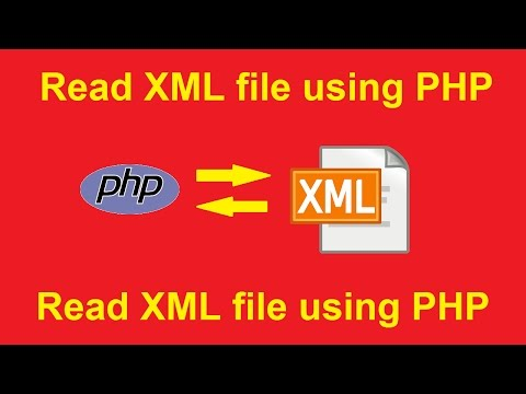how to read xml file using php