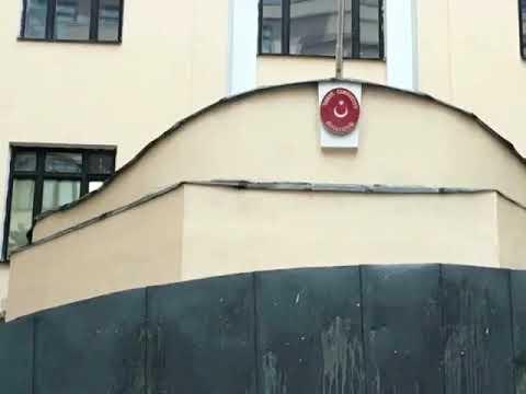 Северол всесезонная зимняя морозостойкая фасадная Краска от АЛЬП ЭМАЛЬ на фасаде здания посольства