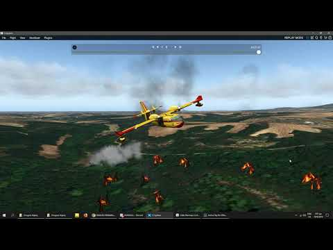 X Plane 11 water drop from Bobardier Canadair CL-415