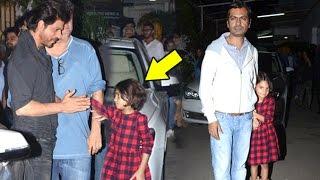 Shahrukh Khan Playing With Nawazuddin Siddiquis CUTE Daughter Shora At Raees Movie Screening