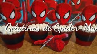 Gelatinas De Spider-Man/ Hombre Araña  Dia Del Niño/ Negocio/ Fiesta/ Cumpleaños Spider-Man Jello