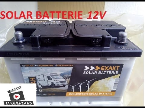 Gute billige SOLAR Batterie 12 Volt für Inselanlage #unboxing