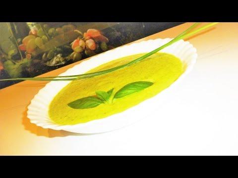бархатистый крем-суп с кабачком  цуккини.