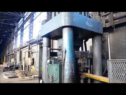 AMO Model 1000-3030, 1,000-Ton Hydraulic Billet Shear, 7 1/8