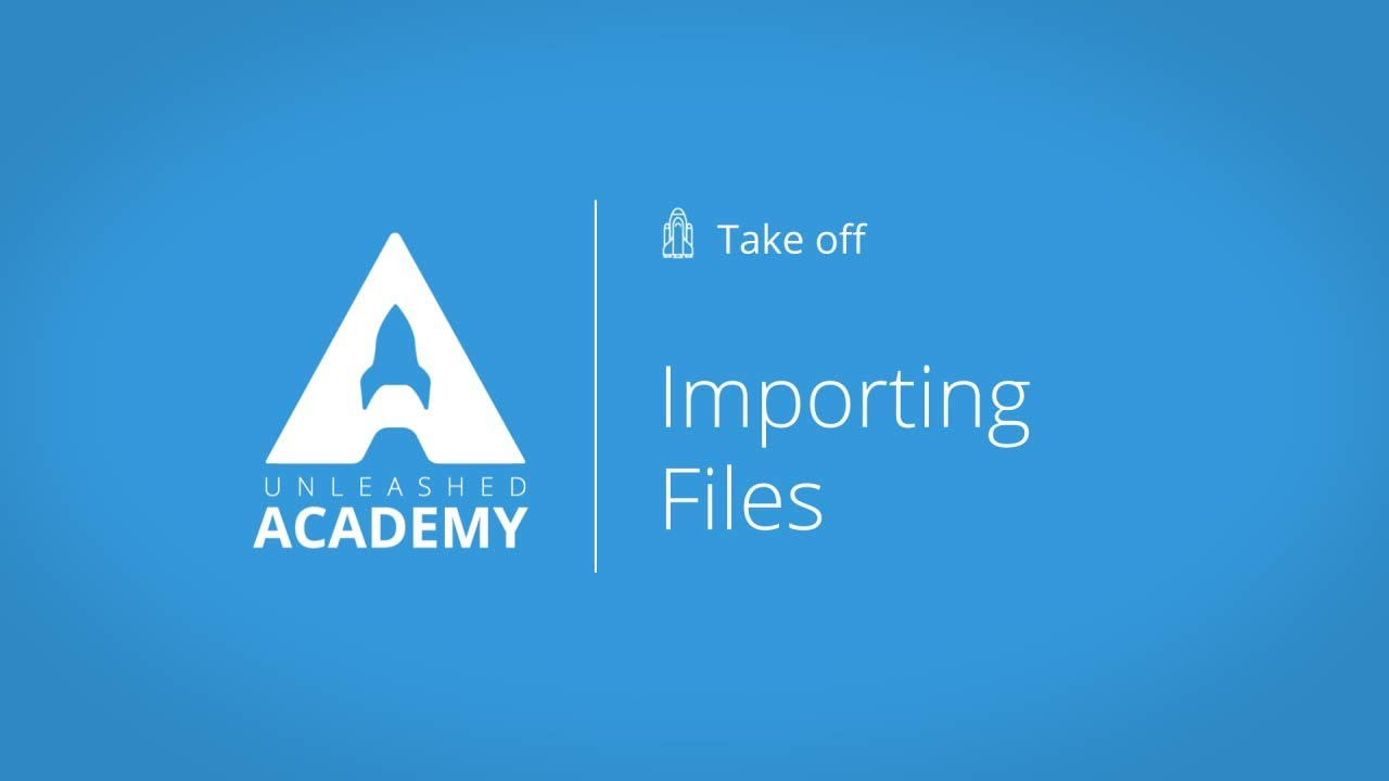 Importing Files YouTube thumbnail image