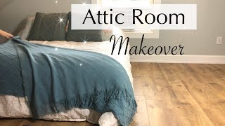 Attic Room Makeover // It Took Over 9 Hours // Small Master Bedroom