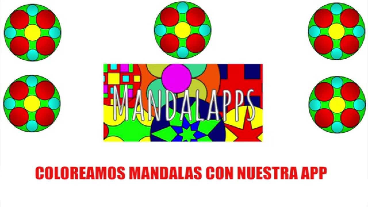Colorear mandalas para niños de formas geometricas para niños