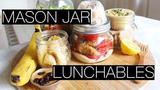 MASON JAR LUNCHABLES! | VEGAN MASON JAR MEALS
