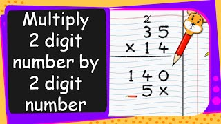 Maths - Multiply Two Digit Number by a Two Digit Number - English