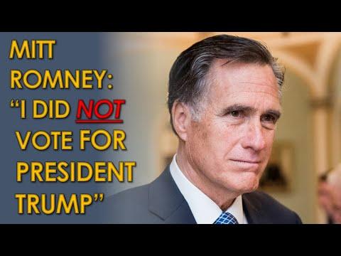 """Mitt Romney Tells CNN: """"I did NOT vote for President Trump"""": Did he vote for Joe Biden?"""