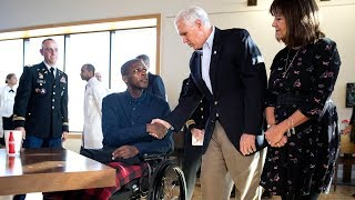 VP Pence and second lady Karen Pence visit the Walter Reed National Military Medical Center  Nov 22.