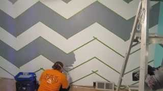 How To Paint A Zig-Zag Wall - Chevron Pattern