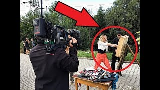 Throwing a TANK SHELL on LIVE TV ?!