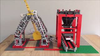 Lego Candy Trebuchet With Catching Funnel And Conveyor Belt