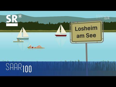 1974: Der Losheimer Stausee wird eröffnet - neue Touristenattraktion im Saarland