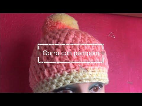 sensación cómoda precios baratass precio favorable Gorro tejido con pompom y punto puff fácil ! •Nya Crochet ...