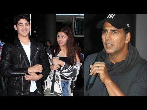 Akshay Kumar's Son Aarav Spotted With A Mystery Girl  At Mumbai Airport
