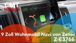 Wohnmobil-Navigation Zenec Z-E3766 mit 7 Jahre kostenfreien Updates Apple Car Play und Android Auto