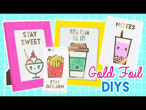 How to Make Gold Foil Phone Cases, Notebooks, and Prints!