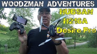 HUBSAN H216A X4 Desire Pro Drone Unbox and first flight !