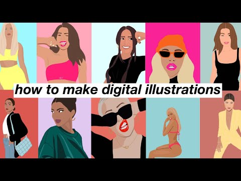 how i make digital illustrations *with a free app*