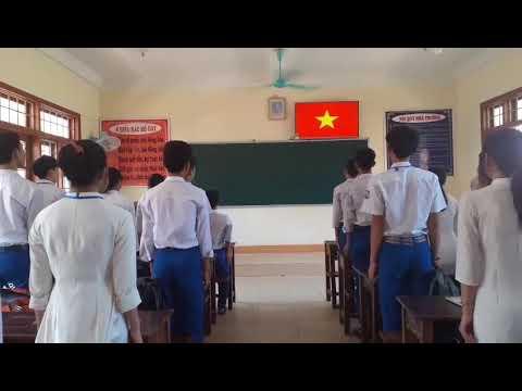 Video chào cờ tại lớp học để phòng chống dịch covid 19