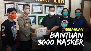 Tribunnews Bersama Garmen Cardinal Serahkan Bantuan 3000 Masker untuk Polresta Solo