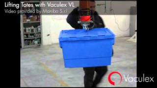 Lifting Totes with Vaculex VL
