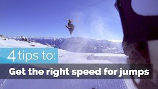 4 TIPS TO GET THE RIGHT SPEED FOR JUMPS ON SKIS