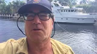 Securing yacht for Irma