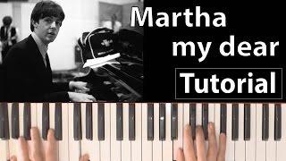 """Como tocar """"Martha my dear"""" (The Beatles) - Piano tutorial, partitura y Mp3"""