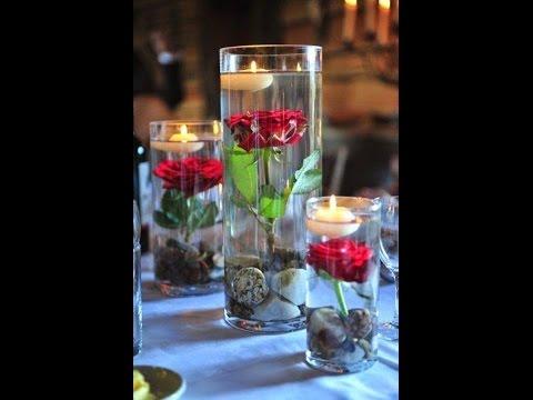 Como Hacer un centro de Mesa con Flores y Vela Flotante - Hogar Tv  por Juan Gonzalo Angel