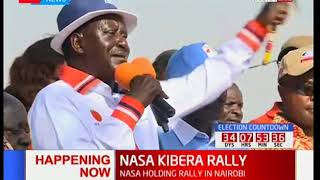 NASA leader Raila Odinga marshalls Kibra supporters to boycott the October 17th 2017 polls