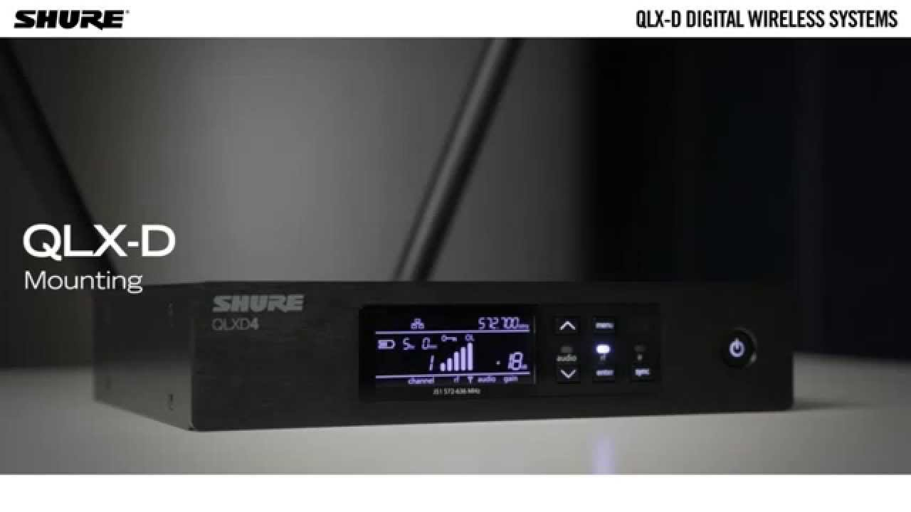 QLX-D Digital Wireless Systems: Mounting
