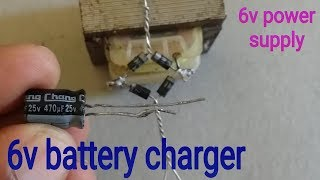 How to make a  6 volt Battery charger